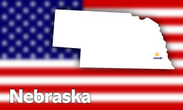 Nebraska state contour Stock Image