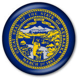 Nebraska State Flag Button. Glassy Web Button with the flag of the state of Nebraska, USA Royalty Free Stock Photo