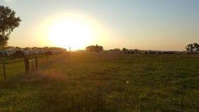 Nebraska sunset. Nebraska ranch during a sunset Stock Photos