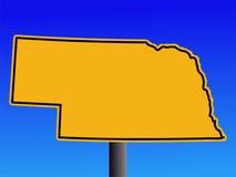 Nebraska warning sign Stock Photos
