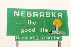 Nebraska-Willkommensschild lizenzfreie stockfotos