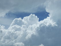 Nebraska-Wolken Stockbild
