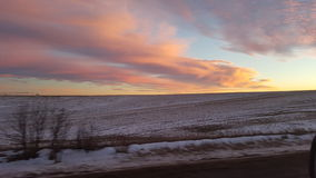 Nebraskasunset01 Στοκ εικόνες με δικαίωμα ελεύθερης χρήσης