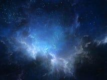 Nebula глубокия космоса иллюстрация штока