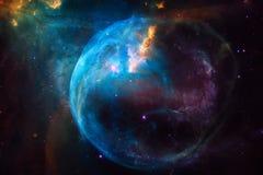 nebula Изображение космического пространства которое соответствующее для обоев стоковая фотография