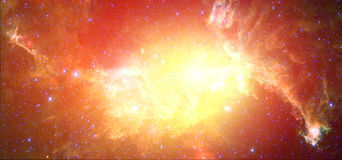 Nebula. Red Nebula with stars and galaxy Royalty Free Stock Images