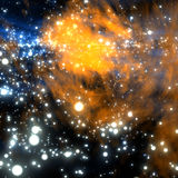 Nebula. Space Nebula in a space taken in a close shot Royalty Free Stock Photos