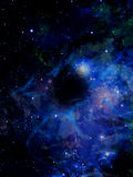 Nebula. Colourful space starfield nebula and planet royalty free stock photos