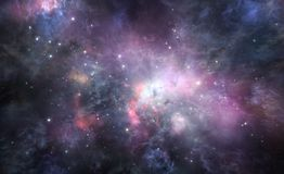 Nebula background stock illustration