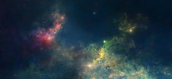 Space nebula. Nebula on a background of outer space stock illustration