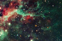Nebula in beautiful endless universe. Awesome for wallpaper and print stock photo