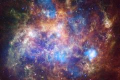 Nebula in beautiful endless universe. Awesome for wallpaper and print royalty free stock photo