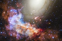 Nebula in beautiful endless universe. Awesome for wallpaper and print. Elements of this image furnished by NASA royalty free stock photo