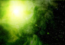 Nebula and bright star. Royalty Free Stock Images