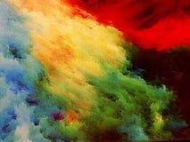 Nebula on canvas stock photography