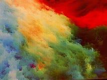 Nebula on canvas stock image