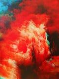 Nebula on canvas royalty free stock photos
