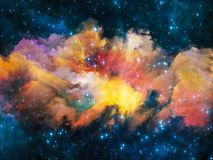 Nebula Composition. Colors in Space series. Composition of colorful clouds and space elements on the subject of art, creativity, imagination, science and design Stock Photos