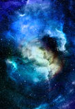 Nebula, Cosmic space and stars, blue cosmic Stock Photos