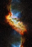 Nebula, Cosmic space and stars, blue cosmic Stock Photo