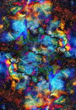 Nebula, Cosmic space and stars, blue cosmic Royalty Free Stock Photo