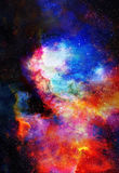 Nebula, Cosmic space and stars, blue cosmic abstract background. Elements of this image furnished by NASA. Stock Photos