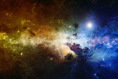 Nebula, deep space. Astronomical scientific background, nebula and stars in deep space, glowing mysterious universe. Elements of this image furnished by NASA Royalty Free Stock Image