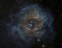 Nebula in deep space stock illustration