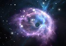 nebula för svart hål stock illustrationer