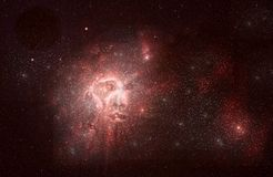 Nebula face Stock Image