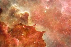 Nebula and galaxies in space. Elements of this image furnished by NASA.  royalty free stock photos