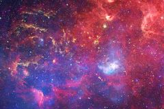 Nebula and galaxies in space. Elements of this image furnished by NASA.  stock photo