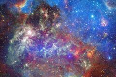 Nebula and galaxies in space. Elements of this image furnished by NASA.  stock illustration