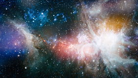 Nebula and galaxies in space. Elements of this image furnished by NASA. Royalty Free Stock Photography