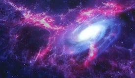 Nebula and galaxy. Stock Photo