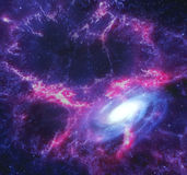 Nebula and galaxy in space. Stock Image