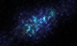 Nebula galaxy with stars Stock Photo