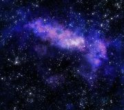 Nebula gas cloud in deep outer space Royalty Free Stock Photo
