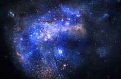 Nebula gas cloud in deep outer space Stock Image