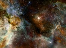 Nebula gas cloud in deep outer space Stock Photos
