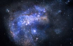 Nebula gas cloud in outer space Stock Images