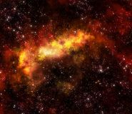 Nebula gas cloud in outer space Stock Image