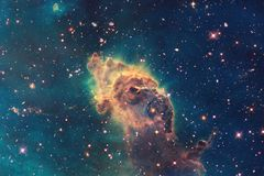 Nebula an interstellar cloud of star dust. Outer space image. Elements of this image furnished by NASA.  stock image