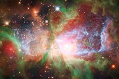 Nebula an interstellar cloud of star dust. Outer space image royalty free stock image