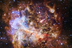 Nebula an interstellar cloud of star dust. Outer space image stock photography