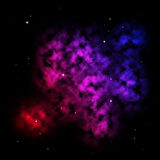 nebula kolorowa Fotografia Royalty Free