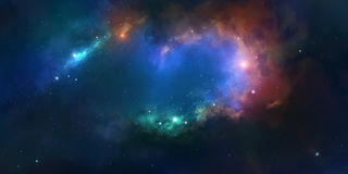 Nebula On A Background Of Outer Space Royalty Free Stock Photo