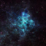 Nebula in outer space. Astronomical background with colorful space nebula and starfield Stock Photo
