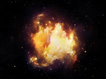 Nebula Particles Stock Photography