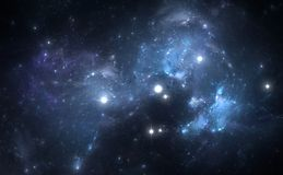 Nebula is a place where new stars are born Royalty Free Stock Photos